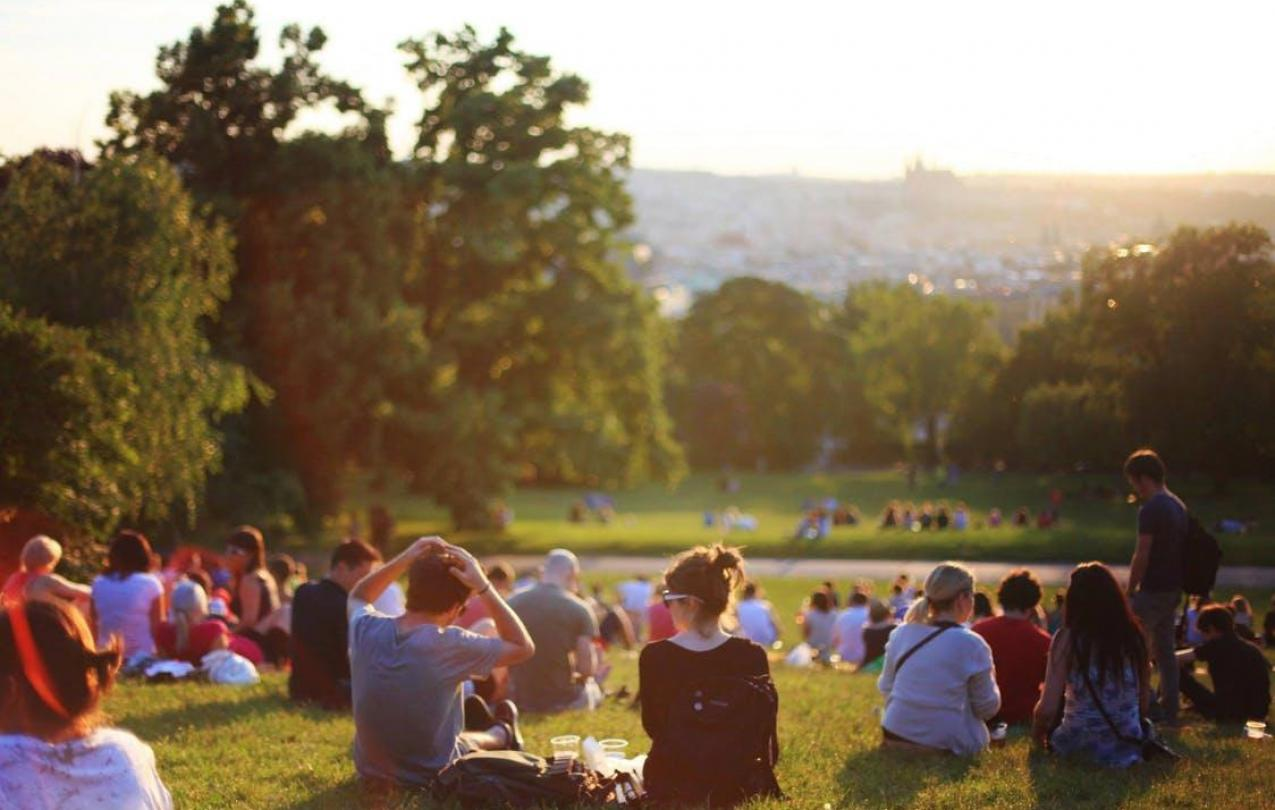 People sitting at a beautiful park, to indicate a fun event, CC0 pexels.com